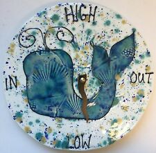 Ceramic Crystal Glazed Tide Clock Whale