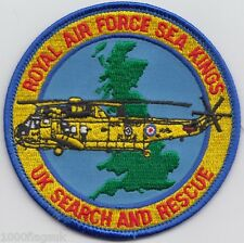 Search and Rescue Sea King Royal Air Force RAF Embroidered Crest Badge Patch
