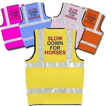Hi Vis Viz Vest Printed 'SLOW DOWN FOR HORSES'
