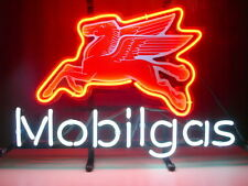 "New Mobil Gas Gasoline Beer Bar Neon Light Sign 18""x14"""