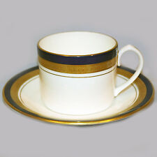 COBALT ROYALE Aynsley Cup & Saucer Can Shape NEW NEVER USED 24kt-Cobalt England