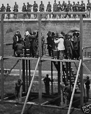 Abraham Lincoln Assassination Conspirators Hangings Civil War 8 x 10 Photo