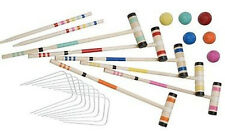 NEW Halex Select Croquet 6 Player Set - 6 Hardwood Wood Mallets, 6 Polymer Balls