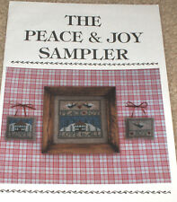 """Christmas """"Peace & Joy Sampler"""" Cross Stitch Patterns - Angels / Love to All"""