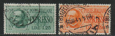 Italy 1932-33 King Victor Emmanuel III Special Delivery--Topical (E14-15) used
