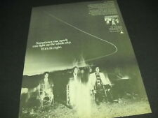 The ALPHA BAND makes a SPARK IN THE DARK 1977 Promo Poster Ad mint condition