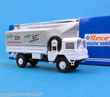 ROCO h0 1647 MAN 4x4 offroad camion pro-log Exped. Pianale telone bianco 1:87 HO SCATOLA ORIGINALE