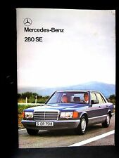 Mercedes 280 se-uk brochure 1980-SE280 (W116)