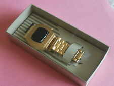 Nice Rare Vintage FOSSIL Gold Tone LED Men's Watch w/Box