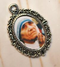 Mother Theresa/Teresa/Silver Medal to add to Rosaries/Bracelets/Zipper Pulls