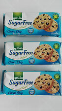 3 x Gullon Sugar Free choco chip cookies  suitable for diabetict and slimming