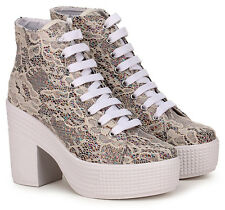 Jeffrey Campbell Lace Cream Glitter White UK 6 EUR 39