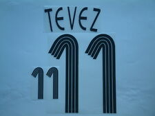 "TEVEZ NOME+NUMERO REPLICA ARGENTINA HOME UNOFFICIAL NAMESET ""GERMANY 2006"""