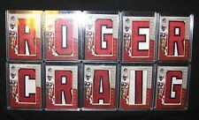 2007 ROGER CRAIG AUTO FULL NAME SP AUTHENTIC BY THE LETTER MUTICOLOR PATCH 49ERS