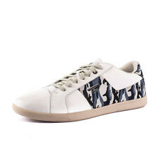 DIESEL Size 43 / UK 9 GOTCHA Patterned 100% Leather Low Top Sneakers From POPPRI