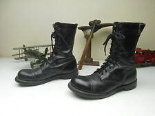 VINTAGE USA MADE BLACK LEATHER 10.5 E MILITARY ZIP UP COMBAT PARATROOPER BOOTS