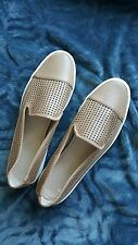 NEW Calvin Klein Jeans Perforated Slip On Minerva Leather Sneaker Tan Size 11