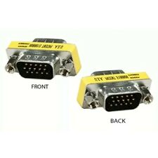 VGA Male to Male M to M DB15 KVM Converter Gender Changer Adapter