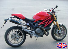 Ducati Monster 696 09+ SP Engineering Satin Black Round Moto GP XLS Exhausts