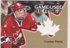 2006 06-07 ITG Going For Gold Jerseys #GUJ16 Cherie Piper Team Canada (white)