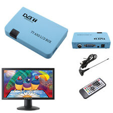 Digital DVB-T TV Box VGA AV Tuner LCD CRT FreeView Receiver Converter + Antenna