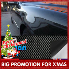 30CM x 1.51M 5D Gloss Black Carbon Fibre Fiber Vinyl Car Wrap Air Release Film