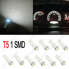 10PCS White 58 70 73 74 T5 Dashboard Gauge 5050 1SMD LED 12V Wedge Bulb Light
