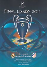 2014 UEFA CHAMPIONS LEAGUE Finale Atletico Madrid V REAL MADRID MINT programma
