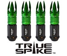 """20 VMS 1/2"""" FORGE STEEL LUG NUTS W/ GREEN POSEIDON TIPS FOR DODGE JEEP PLYMOUTH"""