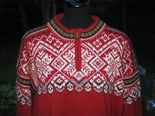 Traditional Hand Knit Wool DALE OF NORWAY Sweater USA Olympic Ski Team 1998