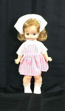"Horsman Dolls Candy Striper Doll Vtg 11"" Nurse Toy Pink/White Plastic Body T 11"