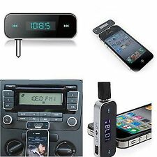 LCD 3.5mm Car Handsfree FM Transmitter w/ Car Charger For iPhone 6 6Plus 5 4s/4