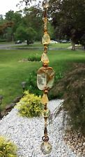 Heaing Gemstone Citrine Suncatcher W/Swarovski Elements Champagne Ball USA