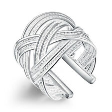 New products Fashion jewelry wholesale 925 silver filling Weave Adjustable Ring