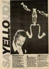 26/6/82PGN10 ARTICLE & PICTURES : DIETER MEIER OF YELLO