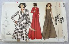 Vintage VOGUE Very Easy Sewing Pattern 8818 Misses' Jacket & Dress Sz. 14 ~ 70's
