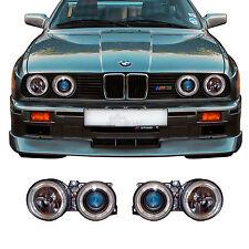 Juego FAROS bmw 3er e30 87-94 Facelift claro/negro Angel Eyes h1+h1 9qw