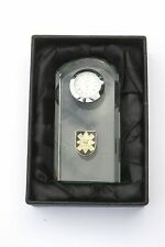 Black Watch Military Regiment Crystal Glass Mantle Bedside Desk Clock BGK31