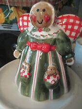 GINGERBREAD  CHRISTMAS ANGEL~ ODOR EATER ~ CERAMIC FIGURE