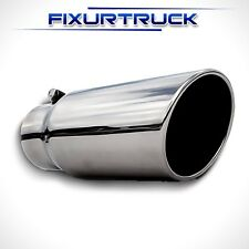 "Stainless Steel Bolt On Diesel Exhaust Tip 4"" Inlet - 5"" Outlet - 12"" Long"