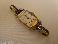 18k 18ct Solid Gold Lavina Sapphire Diamonds ladies Watch. Needs Band. 17.47g