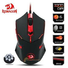 Redragon Centrophorus M601 3200DPI USB Wired Gaming Mouse Mice 6 Buttons For PC