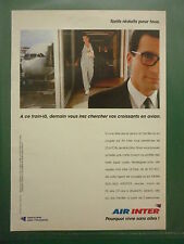 1993 PUB COMPAGNIE AERIENNE AIR INTER AIRLINE AIRBUS ORIGINAL FRENCH AD