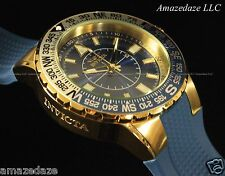 Invicta Men 52mm Voyage Aviator 18K Gold Plated Stainless Steel Blue Dial Watch