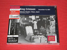 KING CRIMSON Collectors' Club 1981, 12/15, Asakusa Kokusai Hall, Tokyo  JAPAN CD