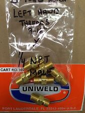 "UNIWELD, WELDING Hose Adapter, B Fuel Gas, LHT, 9/16"" x 1/4"" N.P.T. Male threads"