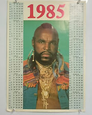 Mr T BA The A Team 1985 Vintage Poster Calendar Wall Chart Birthday Gift Present