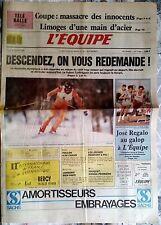L'Equipe Journal 15/2/1988; J.O de Calgary/ Orthez-Limoges/ José Régalo/ Touquet