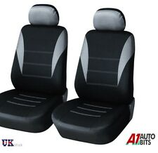 1+1 GREY-BLACK FABRIC FRONT SEAT COVERS FOR DACIA DUSTER SANDERO LOGAN MCV NEW