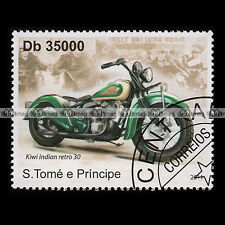 ★ KIWI INDIAN CHIEF RETRO 1930'S ★ SÃO TOME E PRINCIPE Timbre Moto / Stamp #236